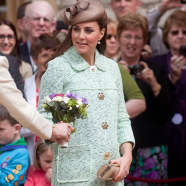 Kate Middleton à un rassemblement scout, le 21 avril 2013 à Windsor.