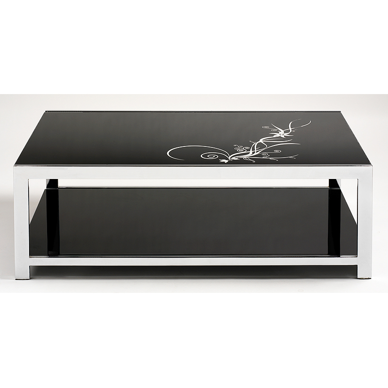 Table basse blanc laqu conforama interesting table basse for Table conforama
