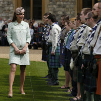 Kate Middleton : future maman radieuse pour un rassemblement scout  Windsor
