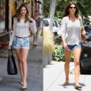Miranda Kerr vs Cindy Crawford mini short