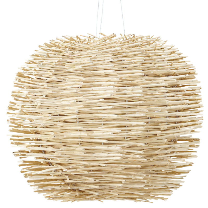 20 meubles tendances en rotin paille bambou etc suspension boule natura maisons du monde for Suspension luminaire maison du monde