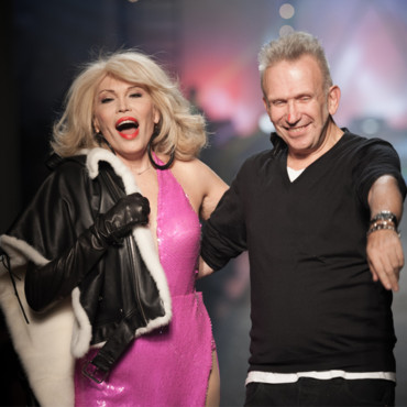Amanda Lear et Jean Paul Gaultier à la fashion week parisienne