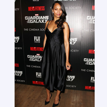 Zoe Saldana à l'avant-première de Guardians Of The Galaxy au Crosby Street Hôtel à New York City, le 29 Juillet 2014.