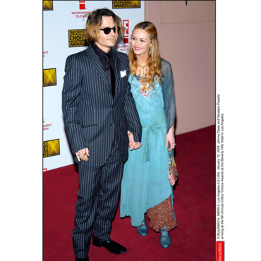 Johnny Depp Vanessa Paradis aux Critics Choice Awards en 2004