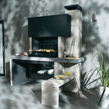 barbecue fixe en b ton tendances d co d co. Black Bedroom Furniture Sets. Home Design Ideas