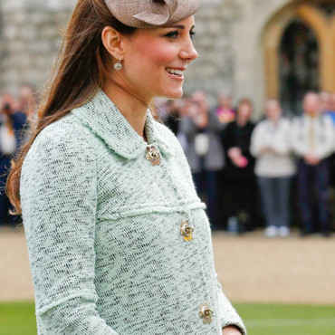 Kate Middleton à un rassemblement de scouts, le 21 avril 2013 à Windsor.