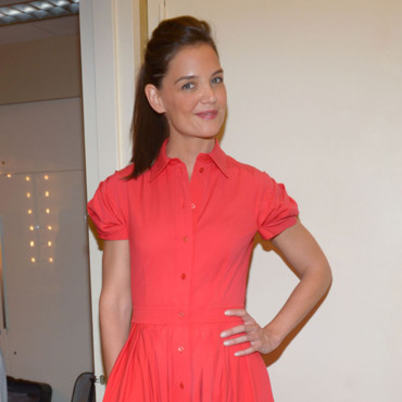 Katie Holmes pour son apparition à l'émission « Today Show », le 6 août 2014 à New York.