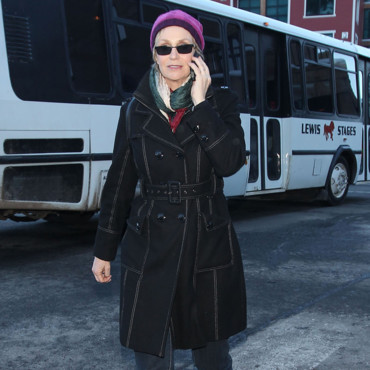 Jane Lynch (Glee) au ski à Park City