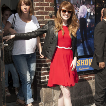 Emma Stone au Late Show with David Letterman à New York mercredi 16 juillet 2014.