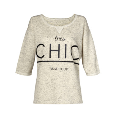 Top gris à message Mango automne 2013 à 24,99 euros