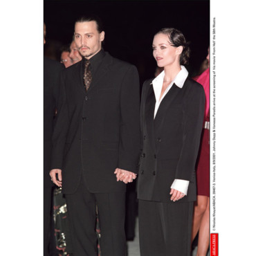 Johnny Depp Vanessa Paradis aux Oscars en 2001