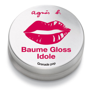 Maquillage Agnès b. : Baume gloss Idole grenadine pop