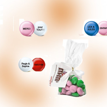 My M&M's - personnalisable mariage - Copyright © <DR>