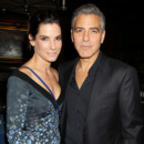 Couple fictif : Sandra Bullock et George Clooney tournée promotionnelle pour Gravity octobre 2013 new york
