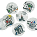 Assiette Mat&Jewski Porcelaine of Paname