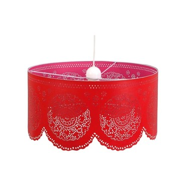 Suspension Jam diamètre 50 cm coloris rouge fuschia 45 € Castorama