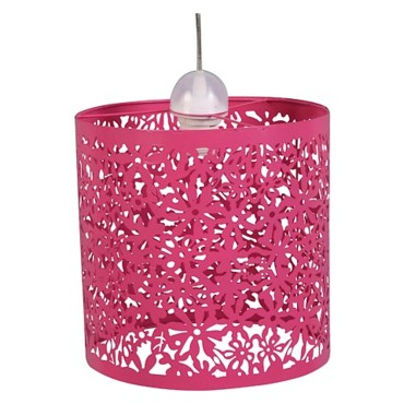 Suspension Séfoa coloris fuchsia 45 euros Castorama