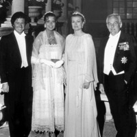 Photo : Caroline de Monaco, Philippe Junot, Grace Kelly et le Prince Rainier