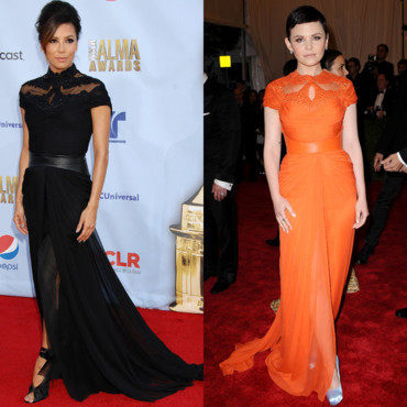 Eva Longoria et Ginnifer Goodwin en Monique Lhuillier
