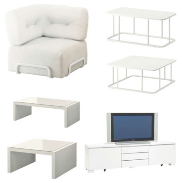 Ikea : un mobilier white is white