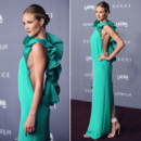 Rosie Huntington Whiteley en robe de soirée Gucci