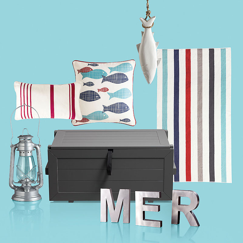 bord de mer 12 accessoires d co qui donnent un air de vacances mon int rieur ambiance. Black Bedroom Furniture Sets. Home Design Ideas