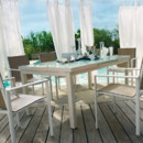 Ensemble table et 6 fauteuils Jardiland