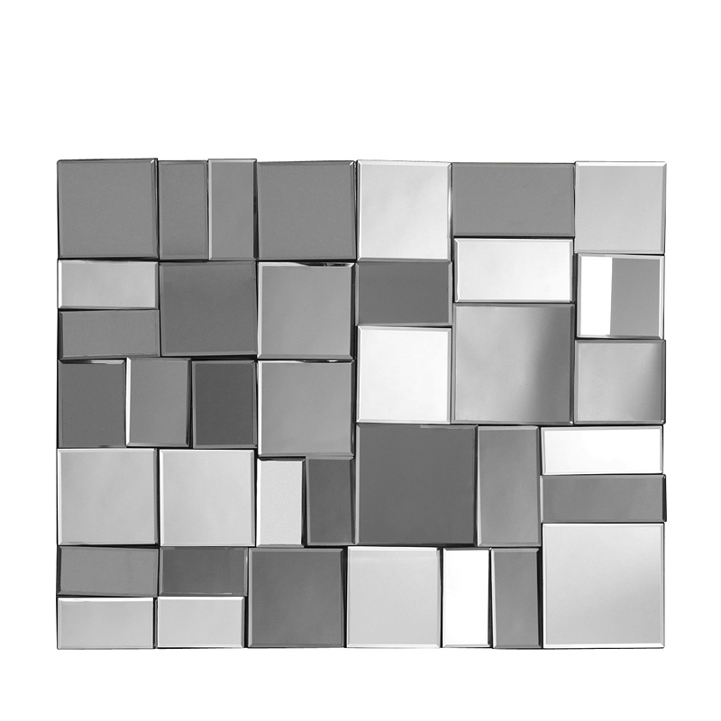 miroir design salon miroir mosaique design 120cm x 60cm