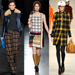 Montage Etro Prada Burberry tendance carreau