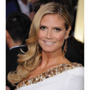 Heidi Klum et son one shoulder lors des Golden Globes 2013 le 13 janvier 2013 à Los Angeles