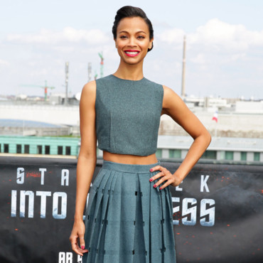 Zoe-Saldana-lors-du-photocall-de-Star-Trek-Into-Darkness à Berlin-le-25-avril-2013