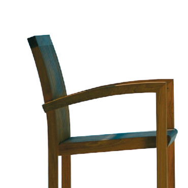 Chaise Tribù Pure stracking chair,Pure Teak