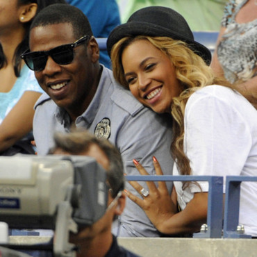 Beyoncé et Jay-Z à l'US Open de Flushing Meadows, à New York, le 12 septembre 2011