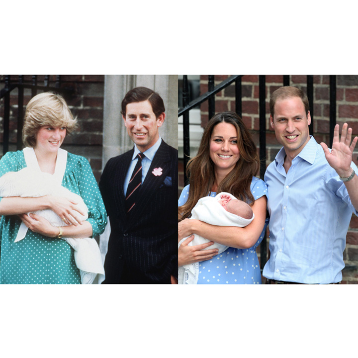 Lady Diana et Charles VS Kate Middleton et William à la sortie de la maternité