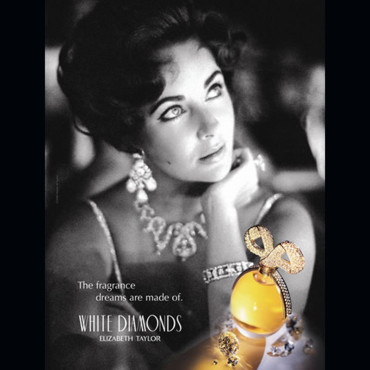 Elizabeth Taylor et son parfum White Diamonds
