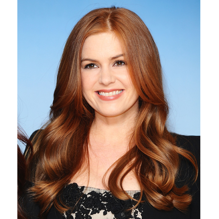 coiffure de stars les plus belles rousses du moment isla fisher beaut. Black Bedroom Furniture Sets. Home Design Ideas