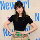 Zooey Deschanel lors de la projection Fox de la série New Girl en avril 2013 à Los Angeles