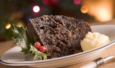 Le Christmas pudding, dessert de Noël traditionnel en Angleterre