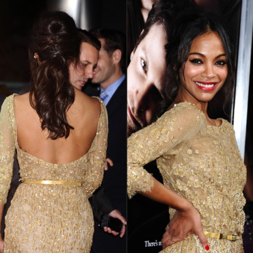 La queue de cheval glamour de Zoe Saldana