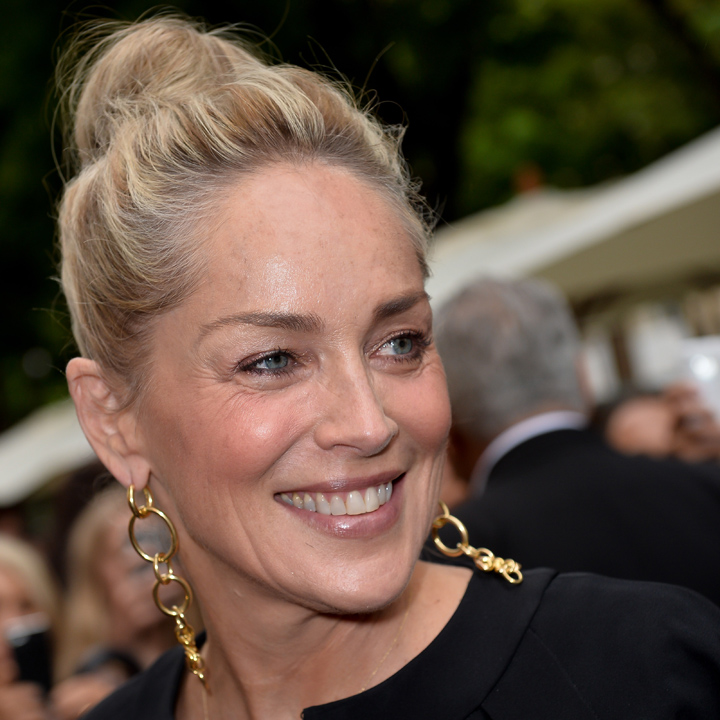 Sharon stone et son chignon bun paris beaut for Coupe de cheveux sharone stone