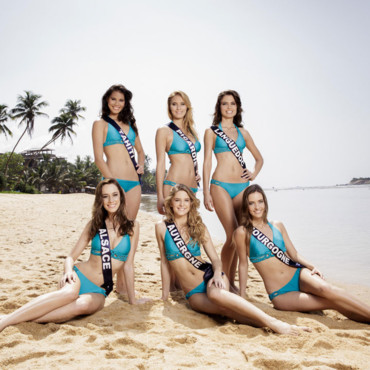 Les Miss France 2014 en maillot