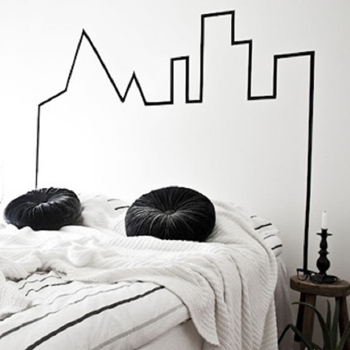 5 id es pour refaire sa d co gr ce au masking tape astuces d co. Black Bedroom Furniture Sets. Home Design Ideas
