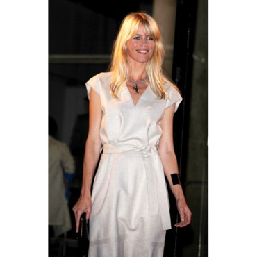 Claudia Schiffer à la Fashion Week Printemps-été 2010 de Paris