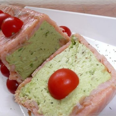Terrine d'avocat au saumon