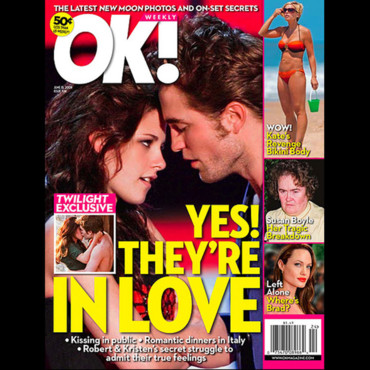 Couverture magazine OK Robert Pattinson et Kristen Stewart