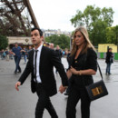 Justin theroux et Jennifer Aniston  la tour eiffel