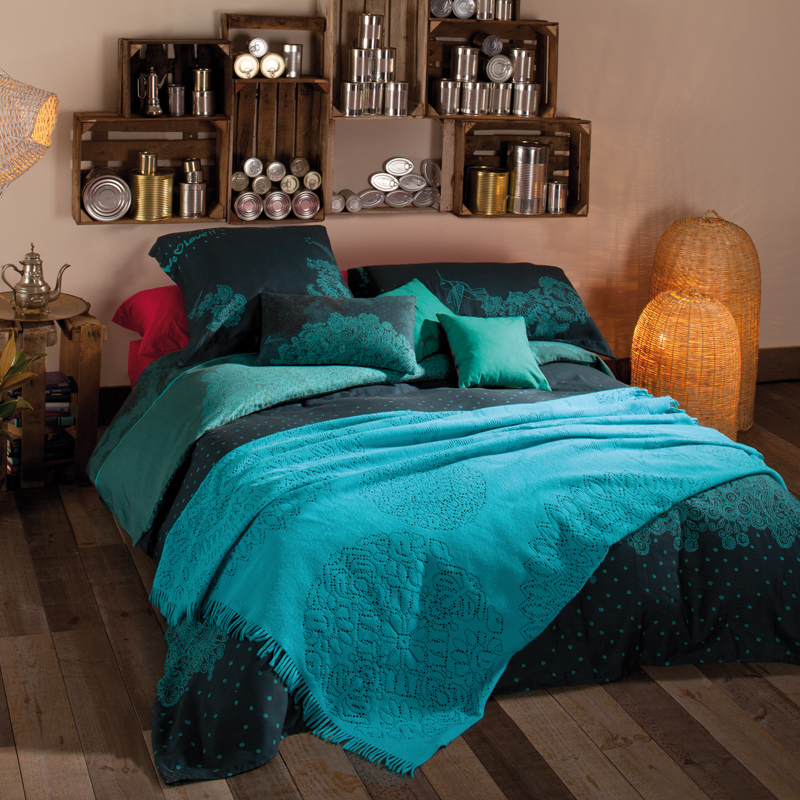 linge de maison nos coups de coeur aux couleurs. Black Bedroom Furniture Sets. Home Design Ideas