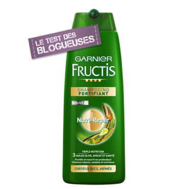 Soin cheveux secs : Garnier Fructis : shampooing fortifiant
