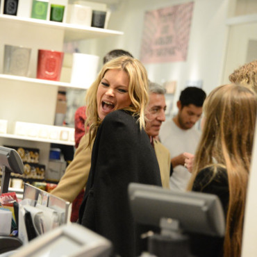 Kate Moss grimace
