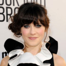 Zooey Deschanel maquillage graphique